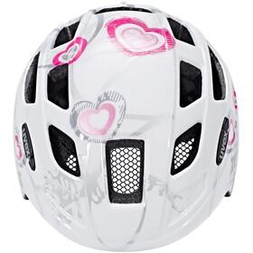 UVEX Finale Junior Helmet large heart white pink